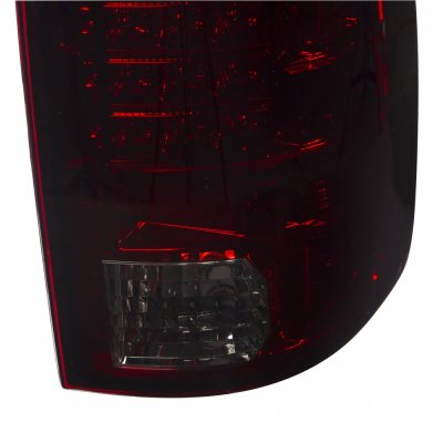 Dodge Ram 3500 2010-2015 LED Tail Lights Red Smoked