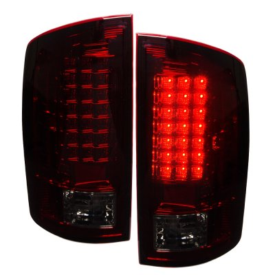 Dodge Ram 2500 2003 2006 Led Tail Lights Red Smoked A141yw95109 Topgearautosport