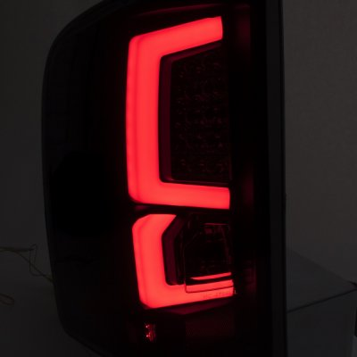 Chevy Silverado 2500HD 2007-2014 Custom LED Tail Lights Black Smoked