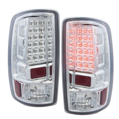 2006 GMC Suburban LED Tail Lights Chrome Clear