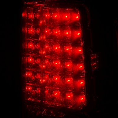 Chevy Suburban 2000-2006 LED Tail Lights Red Clear
