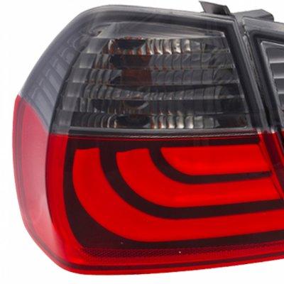BMW E90 Sedan 3 Series 2005-2008 Tube LED Tail Lights Red ...
