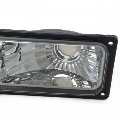 GMC Sierra 1994-1998 Smoked Front Bumper Lights