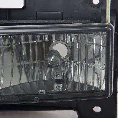 GMC Sierra 1988-1998 Smoked Euro Headlights