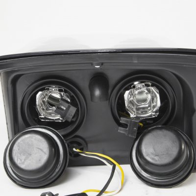 Chevy Corvette C5 1997-2004 Black Dual Projector Headlights