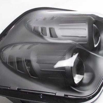 Chevy Corvette C5 1997-2004 Black Dual Projector Headlights