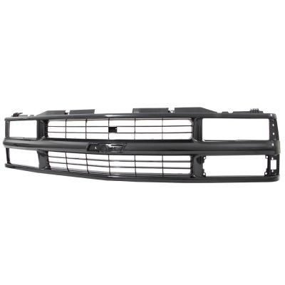1999 Chevy Tahoe Black Grille and Smoked Headlights Set