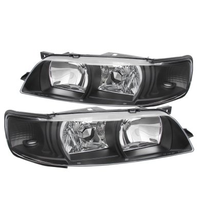 Nissan Maxima 1995-1999 Black JDM R34 Style Headlights