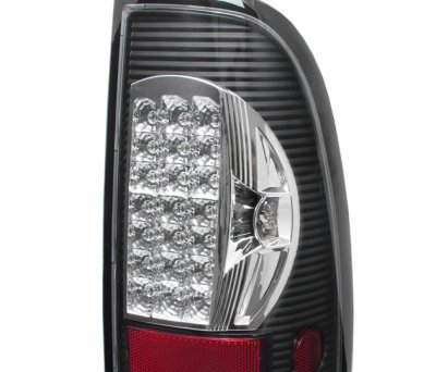 Ford F150 1997-2003 Black Chrome LED Tail Lights