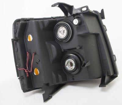 Chevy Silverado 2500HD 2007-2014 Black LED DRL Headlights