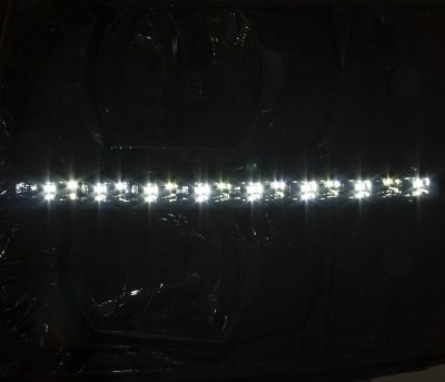 Chevy Silverado 2500HD 2007-2014 Smoked LED DRL Headlights