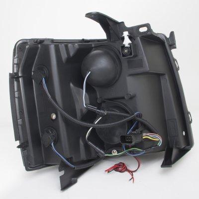 Chevy Silverado 2500HD 2007-2014 Smoked Halo LED DRL Projector Headlights