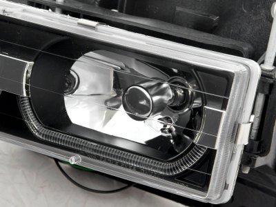Chevy Silverado 1994-1998 Black DRL Headlights and LED Bumper Lights