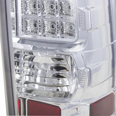 Chevy Silverado 1999-2002 LED Tail Lights Chrome Clear