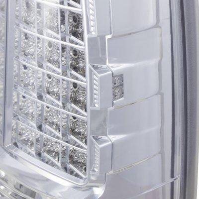 GMC Sierra 1999-2006 LED Tail Lights Chrome Clear