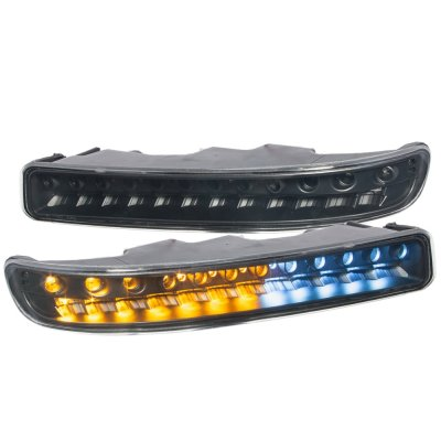 GMC Sierra 3500 2001-2006 Black LED Bumper Lights DRL
