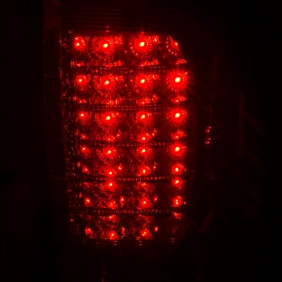 Dodge Ram 2009-2015 LED Tail Lights Red Clear