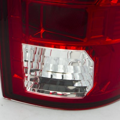 Dodge Ram 3500 2010-2015 LED Tail Lights Red Clear