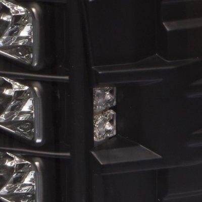Dodge Ram 2500 2007-2009 LED Tail Lights Black Clear