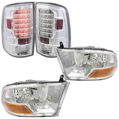 Dodge Ram 2500 2010-2015 Chrome Headlights and LED Tail Lights