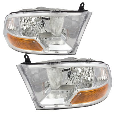 Dodge Ram 3500 2010-2015 Chrome Headlights and LED Tail Lights