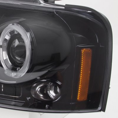 Ford F150 2004-2008 Smoked Halo Projector Headlights with LED