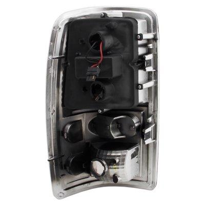 GMC Yukon XL 2000-2006 Black Smoked LED Tail Lights