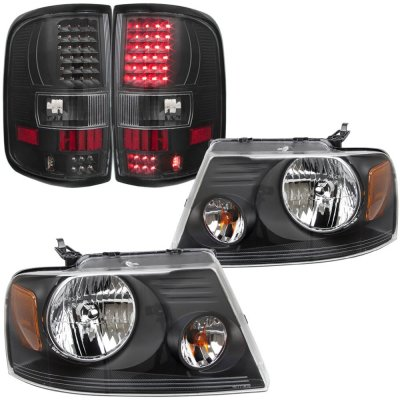 Ford F150 2004-2008 Black Headlights and LED Tail Lights
