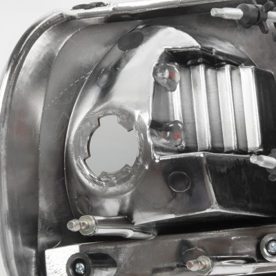 2002 Ford F150 Black One Piece Headlights
