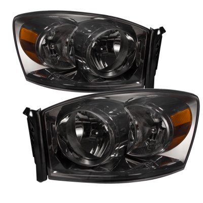 Dodge Ram 2007-2008 Smoked Euro Headlights