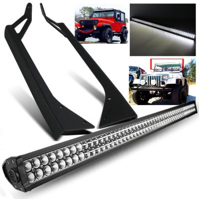 Jeep Wrangler YJ 1987-1995 Double LED Light Bar with Mounting Brackets