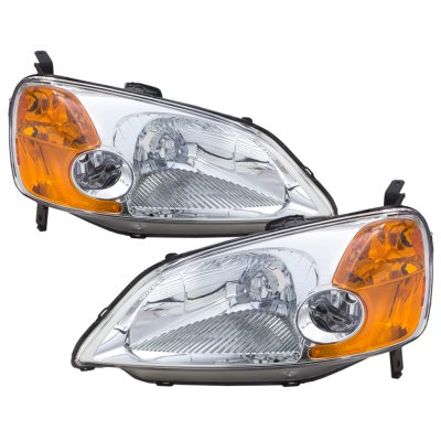Honda Civic 2001-2003 Clear Euro Headlights