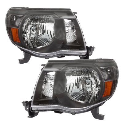 Toyota Tacoma 2005-2011 Black Headlights