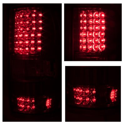 Ford F150 2004-2008 Smoked Clear Headlights and LED Tail Lights Red Clear