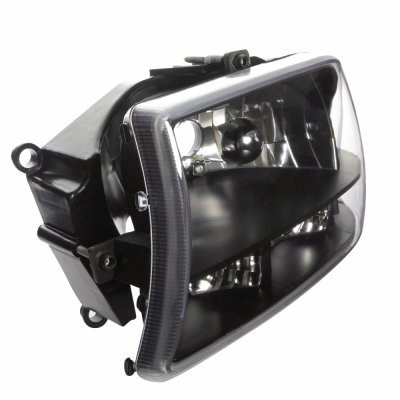 Dodge Durango 1998-2003 Black Clear One Piece Headlights