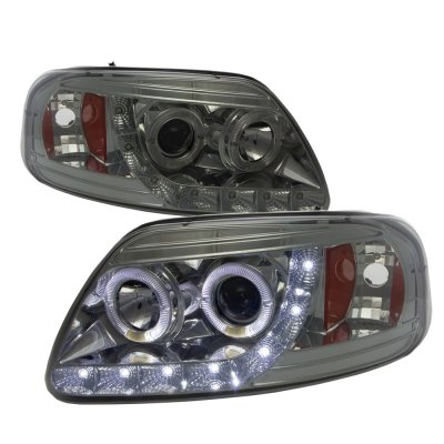 Ford Expedition 1997 2002 Smoked Led Drl Projector Headlights With Halo A1012lro101 Topgearautosport
