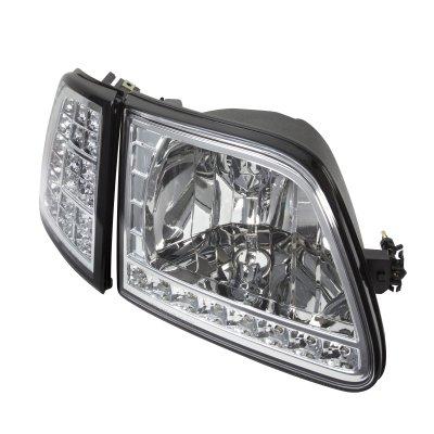 Ford F150 1997-2003 Clear Euro Headlights and LED Corner Lights Set