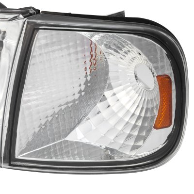 Ford Expedition 1997-2002 Clear Euro Headlights and Corner Lights