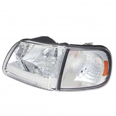Ford F150 1997-2003 Clear Euro Headlights and Corner Lights
