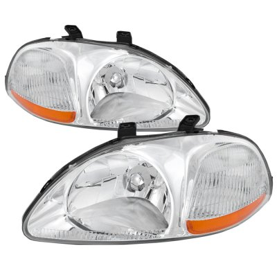 Honda Civic 1996-1998 Clear Euro Headlights
