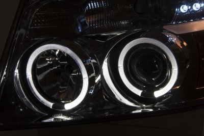 Ford F150 2004-2008 Smoked Halo Projector Headlights and LED Tail Lights