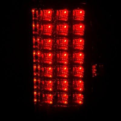 Dodge Ram 2002-2005 Black Headlights and Tinted LED Tail Lights