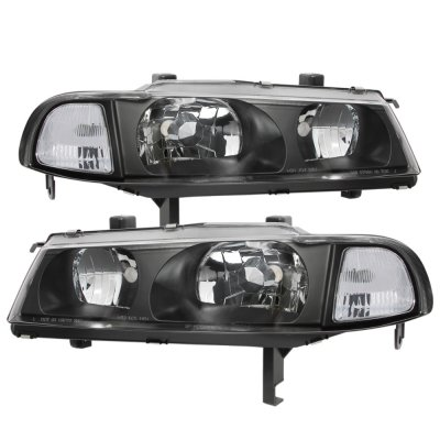 Honda Prelude 1992-1996 Black Clear Headlights and Smoked Tail Lights