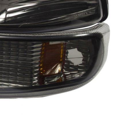 Chevy Silverado 1999-2002 Smoked Euro Headlights and Bumper Lights