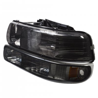 Chevy Tahoe 2000-2006 Smoked Euro Headlights and Bumper Lights