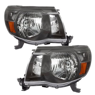 toyota tacoma 2005 2011 black headlights and tinted custom. Black Bedroom Furniture Sets. Home Design Ideas