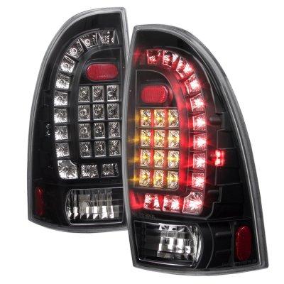 toyota tacoma 2005 2011 black headlights and custom led. Black Bedroom Furniture Sets. Home Design Ideas
