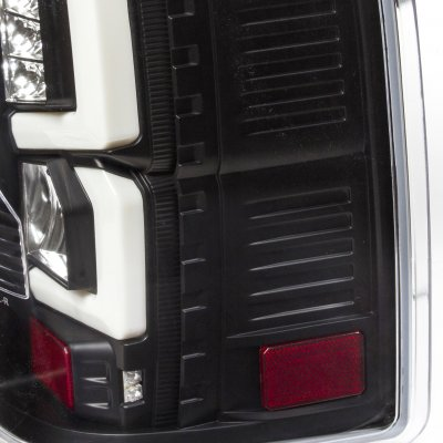 Chevy Silverado 2500HD 2007-2014 Custom LED Tail Lights Black Clear