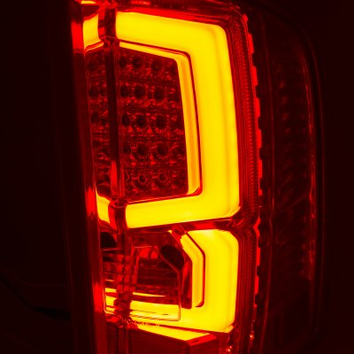 Chevy Silverado 2500HD 2007-2014 Custom LED Tail Lights Black Clear