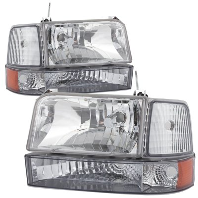 Ford Bronco 1992-1996 Clear Headlights and Bumper Lights Set